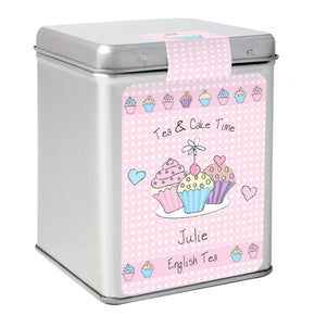 Personalised Cupcake Tea & Tin