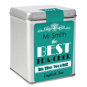Personalised The Best Tea Slogan Tea & Tin