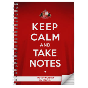 Personalised Sunderland Keep Calm A5 Notebook