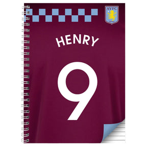 Personalised Aston Villa A4 Notebook
