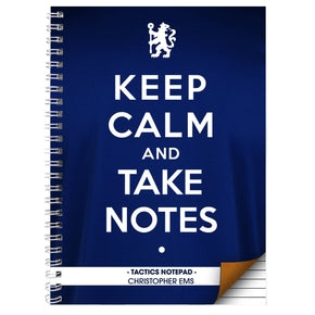 Personalised Chelsea Keep Calm A4 Notebook