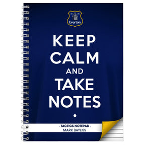 Personalised Everton Keep Calm A4 Notebook