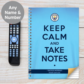 Personalised Manchester City Keep Calm A4 Notebook