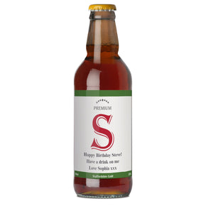 Personalised Premium Initial Beer