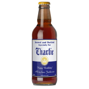 Personalised Brewed & Bottled For Beer