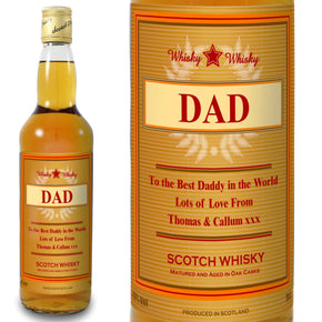 Personalised Gold Award Whisky
