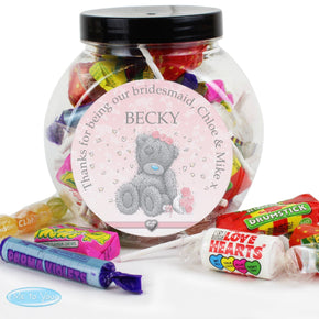 Personalised Me To You Girls Wedding Sweet Jar