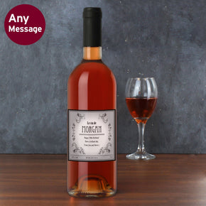 Personalised Vineyard Rose Wine