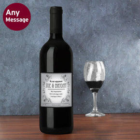Personalised Vineyard Red Wine