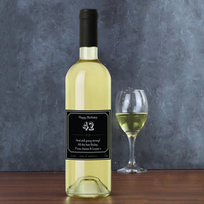 Personalised Ornate White Wine