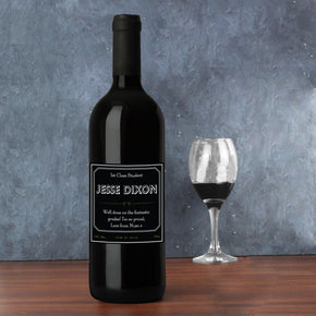 Personalised Ornate Red Wine