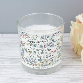 Personalised Botanical Scented Jar Candle