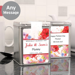 Personalised Blossom Tea & Tin