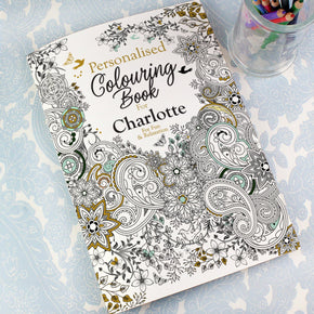 Personalised Botanical Colouring Book