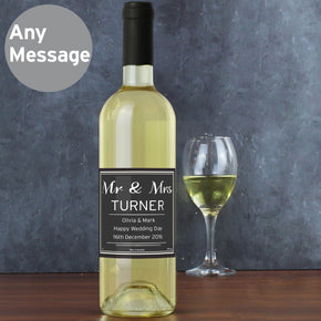Personalised Classic White Wine