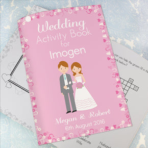 Personalised Wedding Activity Book for Girls