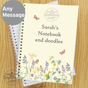 Personalised Country Diary Wild Flowers A5 Notebook