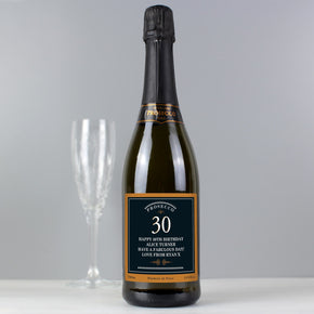 Personalised Birthday And Anniversary Bottle of Prosecco