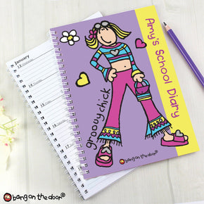 Personalised Bang on the Door Groovy Chick A5 Diary