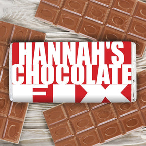Personalised Chocolate Fix Milk Chocolate Bar