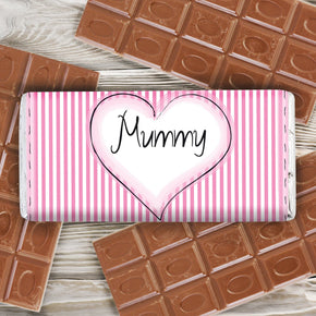 Personalised Heart Stitch Milk Chocolate Bar