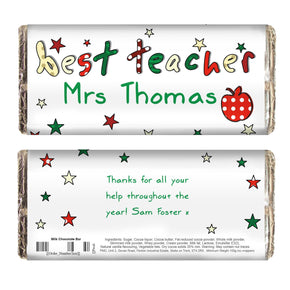 Personalised Teacher Milk Chocolate Bar