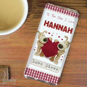Personalised Boofle Shared Heart Milk Chocolate Bar
