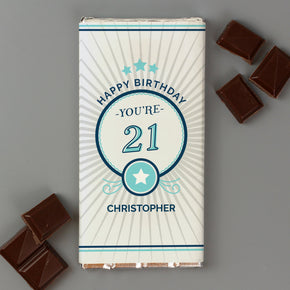 Personalised Birthday Milk Chocolate Bar