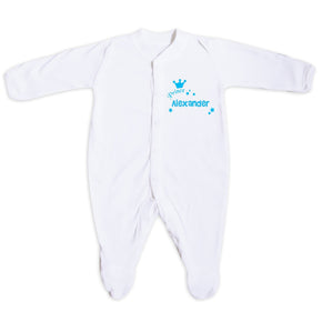 Personalised Little Prince Babygrow 0-3 Months