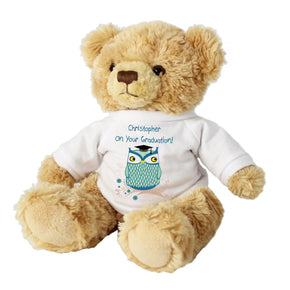 Personalised Mr Owl Teacher Message Bear