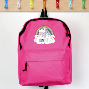 Personalised Unicorn Pink Backpack