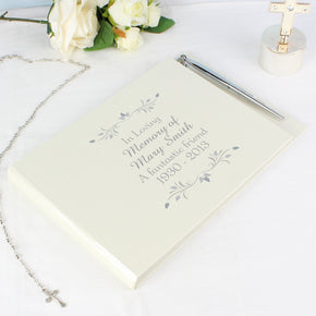 Personalised Sentiments Guest Book & Pen