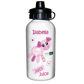 Personalised Cotton Zoo Organdie The Piglet Drinks Bottle