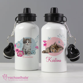 Personalised Rachael Hale Cute Kitten Drinks Bottle