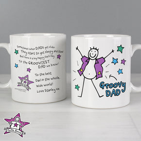 Personalised Purple Ronnie Groovy Dad Father's Day Mug