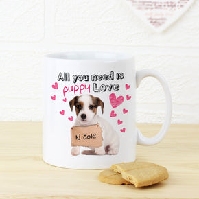 Personalised Puppy Love Mug