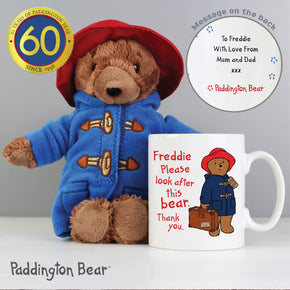 Personalised Paddington Mug with Paddington Bear