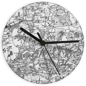 Personalised Old Series 1805 - 1874 Glass Map Clock