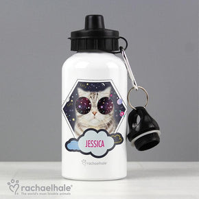Personalised Rachael Hale Space Cat Drinks Bottle