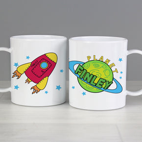Personalised Space Plastic Mug