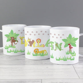 Personalised Animal Alphabet Plastic Mug