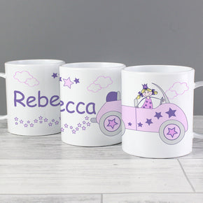 Personalised Little Princess in Car Plastic Mug