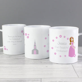 Personalised Fabulous Little Bridesmaid Plastic Mug