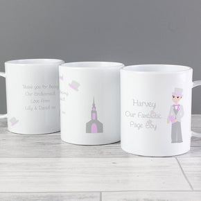 Personalised Fabulous Pageboy Plastic Mug