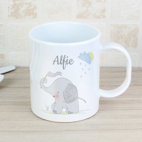 Personalised Hessian Elephant Plastic Mug