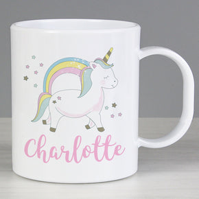 Personalised Baby Unicorn Plastic Mug