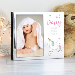 Personalised Baby Unicorn Frame Album 4x6