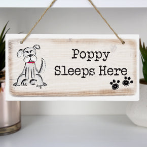 Personalised Dog Wooden Sign