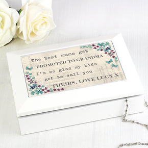 Personalised Forget me not Jewellery Box
