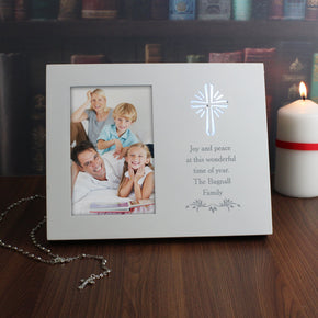 Personalised Cross Sentiments 4x6 Light Up Frame